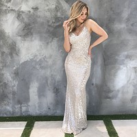 See Me Shine Sequin Maxi Dress
