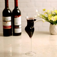 201-300Ml Creative Crystal Naked Glass Cup Stylish Red Wine Glass Vodka Shot Cup Whiskey