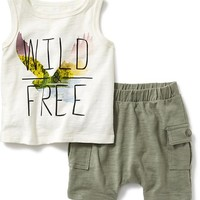 2-Piece Graphic Tank Set for Baby | Old Navy