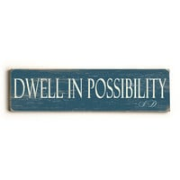 Personalized Dwell Wood Sign