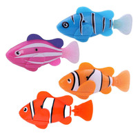 Free Shipping Robofish Activated Battery Powered Robo Fish Toy Childen Kids Robotic Pet K5BO