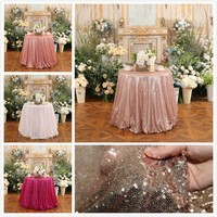Round Sequins Decoration Tablecloth