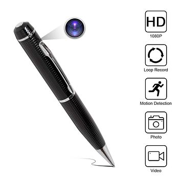 Yumfond Hidden Spy Pen Camera HD 1080P Portable Digital Video Recorder with Photo Taking, USB Port Covert Cam, Wireless Mini DV Cam Multifunction Ink Pen Camcorder for Conference and Home (Video Only)