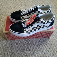 NEW!Vans Old Skool Checkerboard Black Checker Primary Check VN0A38G1P0S size 9.5