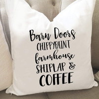 Barn Doors Chippy paint Throw Pillow Cover