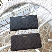 Kuyou Gb89815 Coach 74597 Zip Around Wallet In Signature Embossed Leather  20*10cm