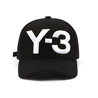New Y-3 Dad Hat Big Bold Embroidered Logo Baseball Cap Adjustable Strapback Hats Y3