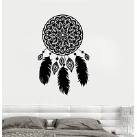 Vinyl Wall Decal Dreamcatcher Amulet Dream Catcher Bedroom Stickers Unique Gift (ig3555)