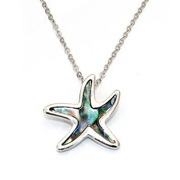 Sea Star Abalone Necklace
