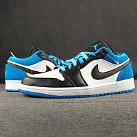 NIKE Air Jordan 1 AJ1 Low Fashion New Hook Sports Leisure Running Hit Color Shoes