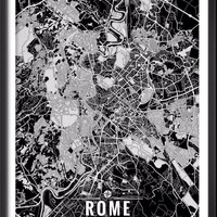Rome Italy Map with Coordinates