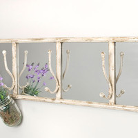 Entryway Mirror with Wall Hooks