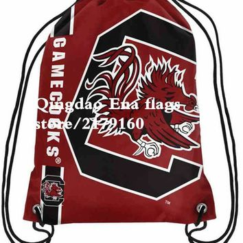 35*45 cm Forever Collectibles Chicago Bears Chevron Drawstring Backpack with digital printed knitted polyester