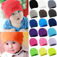 New  Spring Autumn Winter  Cotton Baby Hat Girl Boy Toddler Infant Kids Caps Brand Candy Color Lovely Baby Beanies Accessories