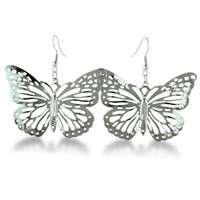 Super Lightweight and Airy Butterfly Cutout Earrings. 1.4 inches long