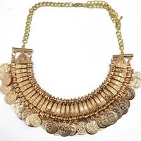 2015 Collier Femme Statement Bohemian Resin Beads Collares Necklaces & Pendants Gold Choker Colar for women jewelry Accessories CZ90552 = 1928348676