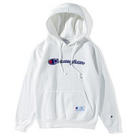 Champion classic alphabet patch cloth men and women embroidered sweater coat White