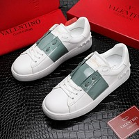 Valentino New Fashion Women Men Casual Leather Sneakers Sport Shoes
