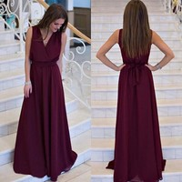 Summer Women dress Sexy Long Party Dresses 2016 Sleeveless Elegant Casual Pleated Chiffon Maxi Dress Vestido robe New Plus Size