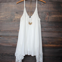 White Lace Patchwork Cami