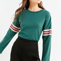 UO Tipped Striped Long Sleeve Tee | Urban Outfitters