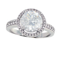 Perfect Halo Ring - FINAL SALE Round CZ Halo Engagement Ring