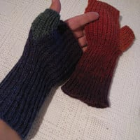 knitted gloves without fingers Kaun yarn Rainbow Women gloves mittens boho Long  gloves  100% quality class