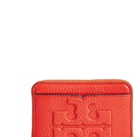 Tory Burch 'Bombe T' Leather Zip Coin Case   Nordstrom