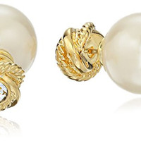 "kate spade new york ""Infinity and Beyond"" Pearl Gold Multi-Colored Reversible Stud Earrings"