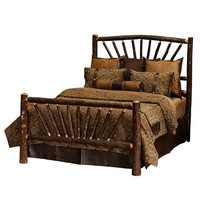 Hickory Sunburst Bed - Queen