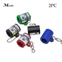 Mettle Acrylic 2PC NEW Cigarillo CIGAR CUTTER BLUNT SPLITTER KEY CHAIN Smoking Pipes Cigarette Accessories