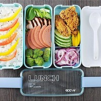 Bento Box 3 Layers Portable Gift For Kids Sushi Box 900ml Microwave Food Storage Container Lunchbox .