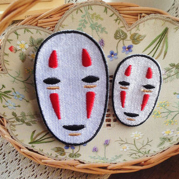 NO FACE Spirited Away Patch Embroidered Iron on Patch Sew on Patches Iron on Applique