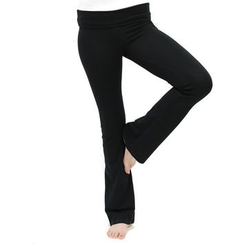 Soft Comfort Cotton Spandex Yoga Sweat Lounge Gym Sports Athletic Pants