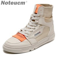 Yellow cloth label Hip hop Trainer 2018 male Hiphop canvas high topmen casual shoes kanye west sneakers for men off white bambas