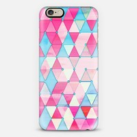 Happy Spring Geometry in Pink & Turquoise iPhone 6 case by Micklyn Le Feuvre | Casetify