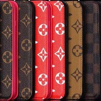 LV & GG Flip Card Holder Case