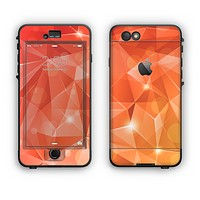 The Vector Shiny Coral Crystal Pattern Apple iPhone 6 Plus LifeProof Nuud Case Skin Set