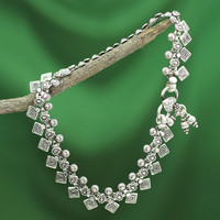 Handcrafted Sterling Silver 'Joyous Dance' Anklet (India)   Overstock.com Shopping - The Best Deals on Anklets