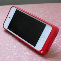 2200 mAh Battery Case Cover Portable Power for iPod touch 5 5th 6 6th Gen Black/