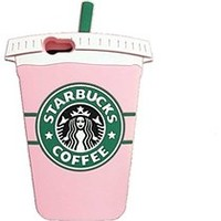 Thunderous Starbucks Coffee Ice Cream Silicone Back Cover Case for Apple iPhone 6 6s Plus (5.5 inch) Pink