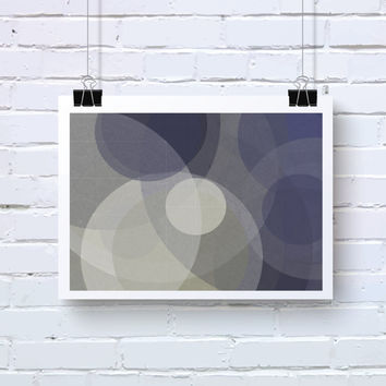 Abstract Generative Art based on Mathematics and Geometry. Mystic Rose 061_9aaaaan. Navy Blue and Dove Grey art. Office wall art. Geeky art.