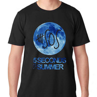 5 second of summer blue moon clothing design for T Shirt Mens and T Shirt Girls