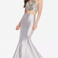 Alyce 60216 Two Piece Dress with Beaded Top and Trumpet Skirt