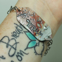 Mantra bracelet Inspirational jewelry Choose to be happy Polymer clay