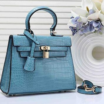 Hermes Fashion Women Leather Handbag Shoulder Bag Satchel