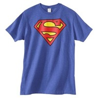 Superman Men's Shield Graphic Tee - Royal Heather