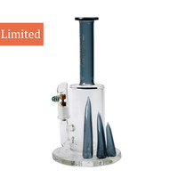 Grav Labs Inject Bubbler with Horn Accents by Grav Gold