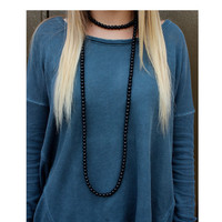 Beaded Double Wrap Necklace