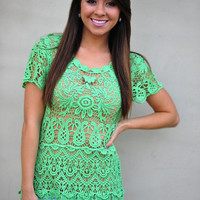 See Right Through Me Top: Kelly Green | Hope's